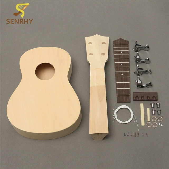 Us 2541 Aliexpresscom Buy 21 Inch Unassembled Wooden Ukulele Rosewood Fretboard Guitar Uke Diy Kit With Musical Accessories For Beginners Or
