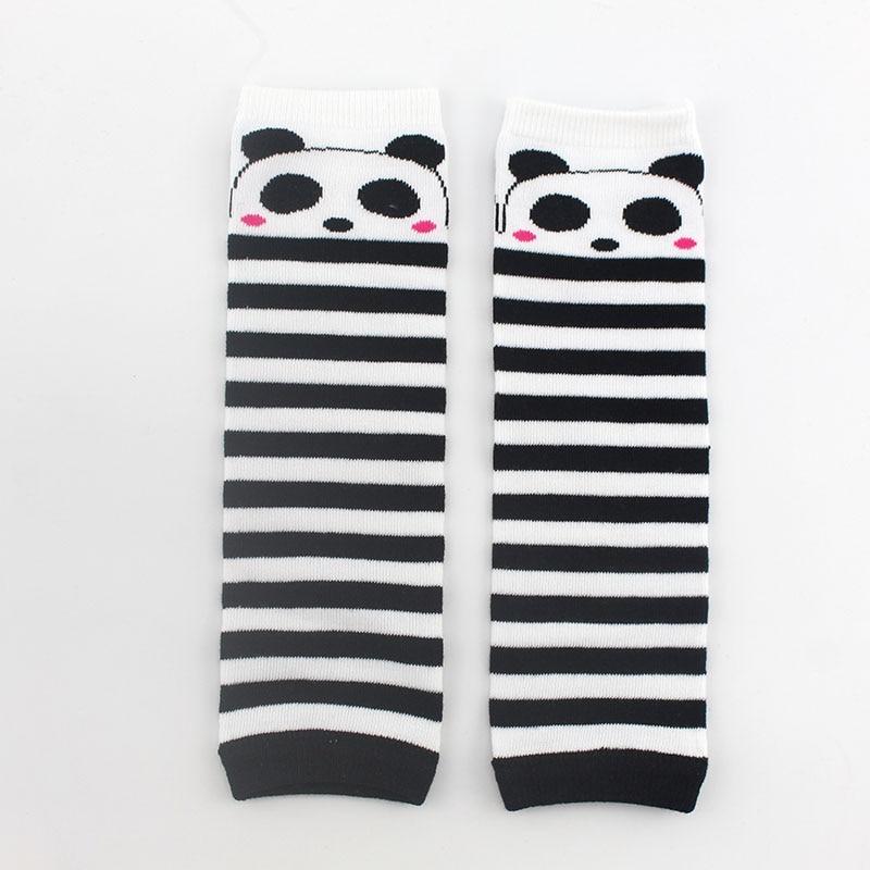 1 Pair Baby Knee Pad Kids Socks Leg Warmers Rainbow Striped newborn girls leggings tights boys toddlers Kneepad Protector цена
