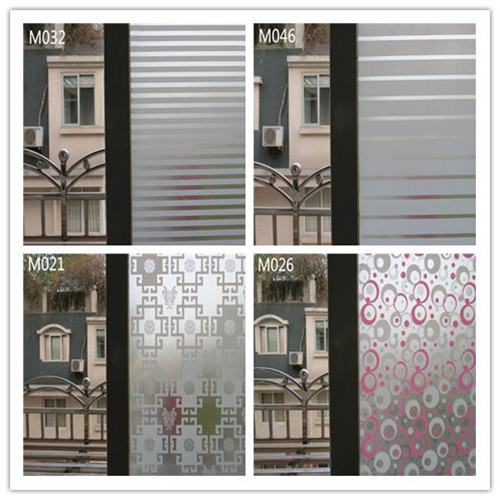 Free Shipping PVC Frosted Glass Window Film Stripe Colorful Circle - Window stickers for home privacy