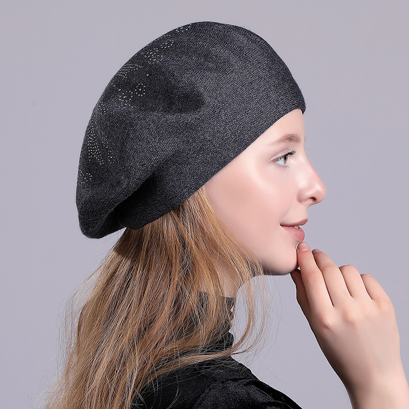 Mnkncl Winter Hat Berets Wool Cashmere Womens Warm Brand Casual Hi