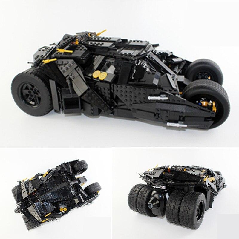 DHL IN STOCK Upgrade DECOOL 7111 2113PCS Oversized Bat Car Batman The Combat Vehicle Bricks Giant Building Block Toys 78023 (No Original Box)