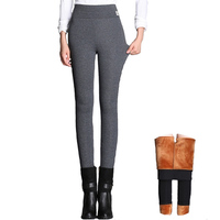 Plus Size 4XL Boot Cut Pants Winter Autumn Warm Trousers Elastic Waist Slim Casual Black Gray