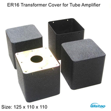 1 Piece Transformer Cover ER16 125X110X110 Stretch Output Transformers Covers for Tube Amp Iron Black HIFI Audio Free Shipping