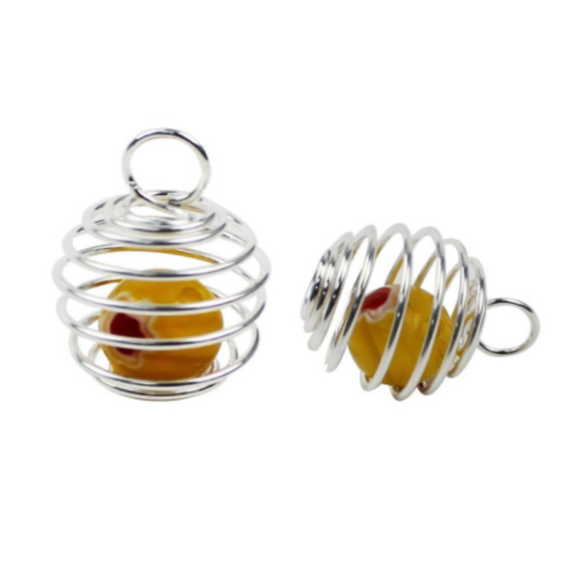 Reliable 20*25/25*30mm 10pc/lot Spring Ball Diy Jewelry Accessories Wholesale Hanging Swing Balls Stirring Lantern Ball Spring Pendant High Quality Jewelry Findings & Components Beads & Jewelry Making