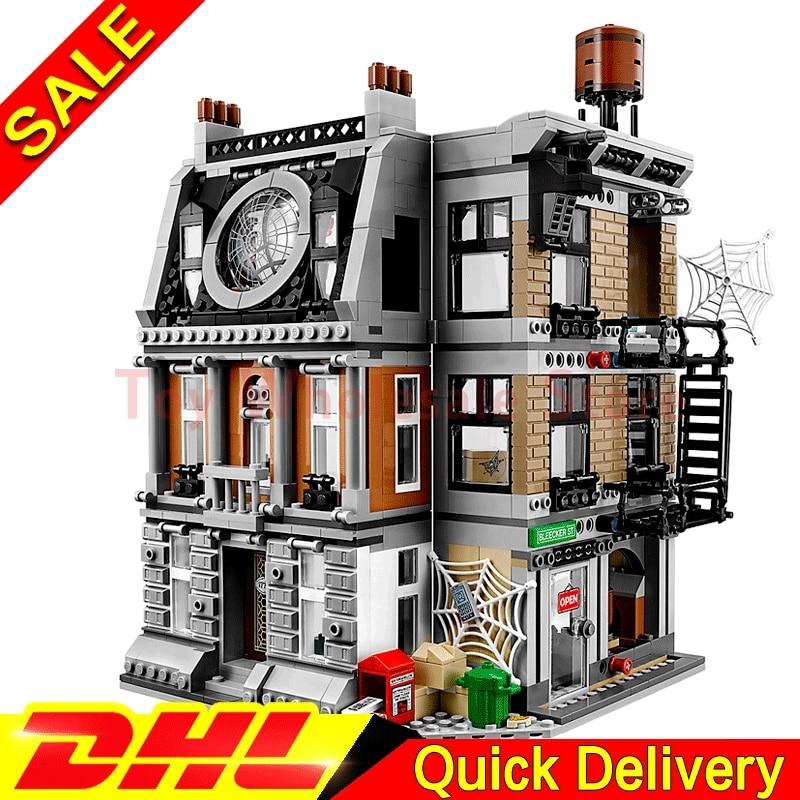 In Stock Lepin 07107 marvel Super Hero kits The 76108 Sanctum Sanctorum Showdown Set Building Blocks Bricks Toys For Kids Gifts