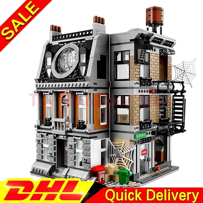 Lepin 07107 New marvel Super Hero kits The 76108 Sanctum Sanctorum Showdown Set Building Blocks Bricks Toys For Kids Gifts sanctum