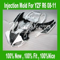 Pre_drilledInjection aftermarket fairings for Yamaha YZF R6 08 09 10 11 YZFR6 2008 2009 2010 2011 YZF R6 08 09 10 11 fairing kit