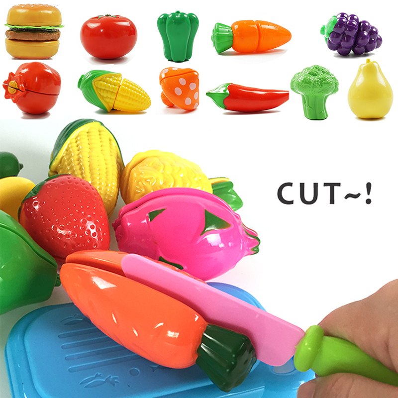 10 PCS Cutting Fruit Vegetable Pretend Play Children Kid Educational Toy Gift
