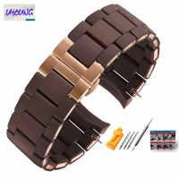 Bracelet de montre en Silicone + acier adapté au bingo AR5889/5890/5905/5920 style original bracelet homme et femme 20 23mm fasion