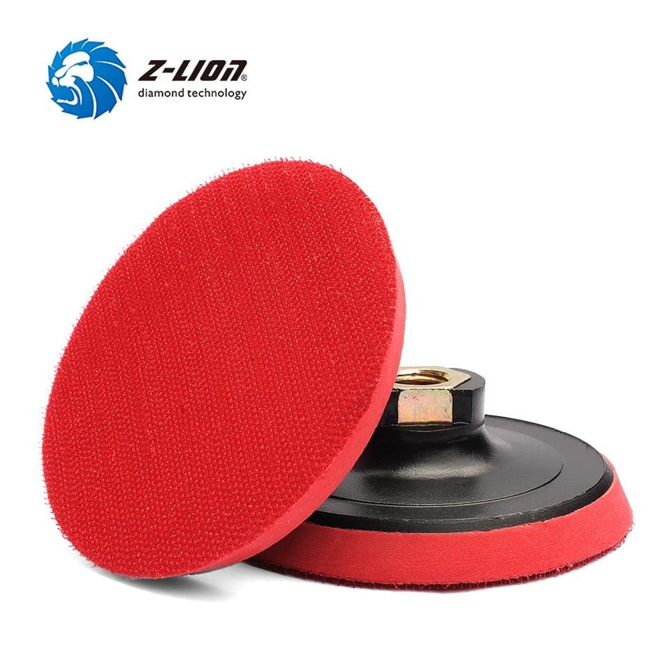 Z-LION 4 Inch 2pcs Backing Pad M14  5/8-11 Thread Plastic Foam Polishing Pad Holder Hook & Loop  Backer Plate For Polisher