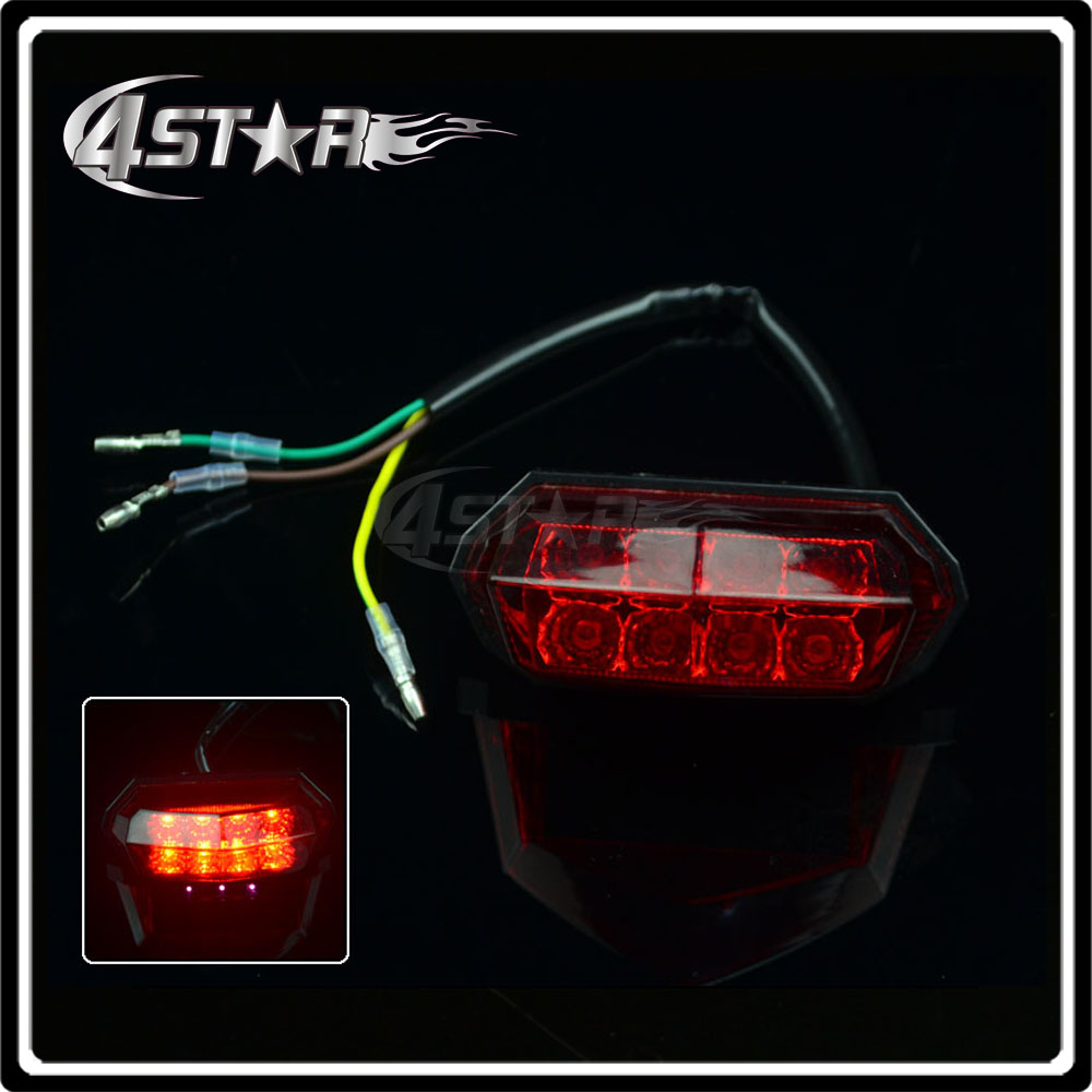 LED Rear Signal Lamp Tail Brake Light Fit Motorcycle Racing Street Dirt Street OFF Road Bike