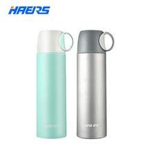 Haers Vakuumisolierte Wasserflasche Edelstahl Thermoskanne Flasche Getränke Isolierflaschen Thermoskannen Mit Tasse 500 ml