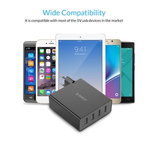 Image 5 - ORICO DCW 4U 4 porty ścienne ładowarka do telefonu na USB 5V2. 4A * 4 6A30W całkowita moc wyjściowa inteligentny układ sterowania czarny/biały
