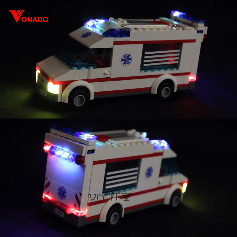 LED light for lego City Series Emergency Ambulance Friends Building Blocks Bricks 4431 Toys Gifts only
