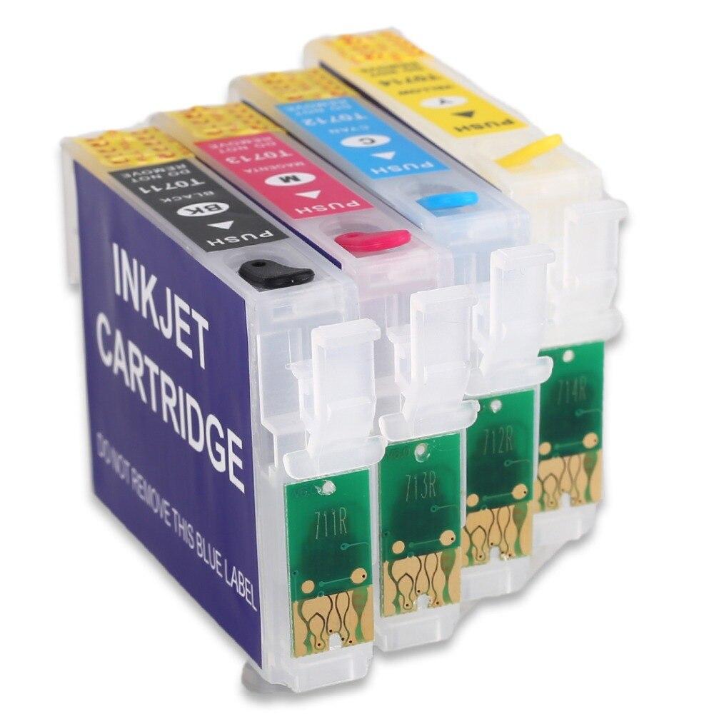 T0711 многоразовый картридж для принтера epson D78 D92 D120 DX4000 DX4050 DX4400 DX4450 DX5000 с чипом автоматического сброса