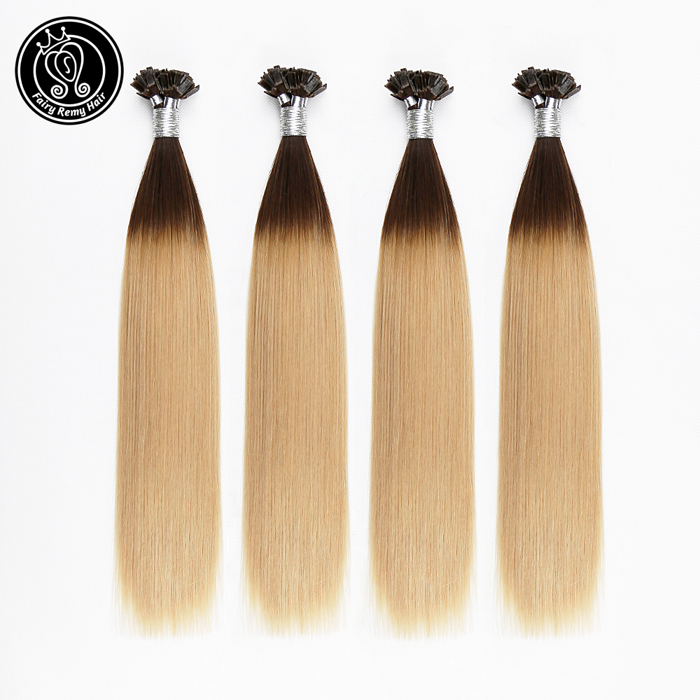 Fairy Remy Hair 0.8g/s Real Remy Human Double Drawn Flat Tip Hair Extensions Ombre Capsules Keratin Pre Bonded Hair 40g/pack