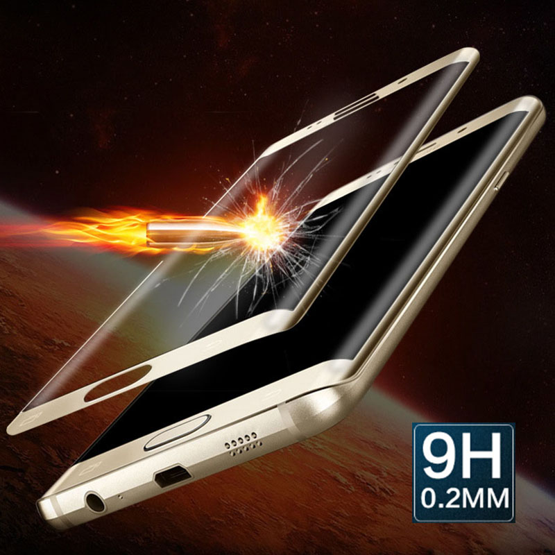 <font><b>Premium</b></font> <font><b>Tempered</b></font> <font><b>Glass</b></font> Screen Protector For Samsung Galaxy S6 Edge Plus Ultra Thin Film <font><b>Full</b></font> Coverage 3D <font><b>Curved</b></font> <font><b>Surface</b></font> Screen