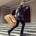 Wholesale!Europe fashion large capacity world map vintage pu leather trolley bags with rod and wheels