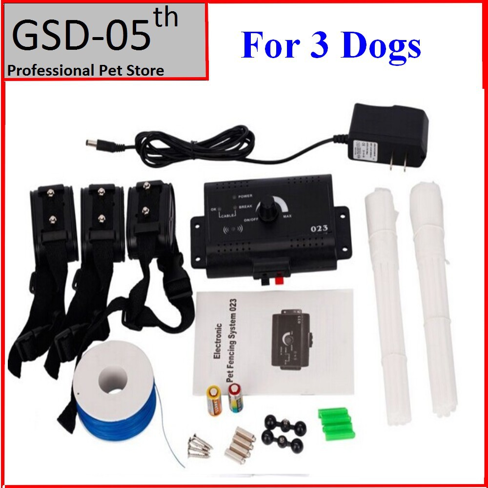 3 Dogs Underground Electric Shock Dog Pet Fencing System