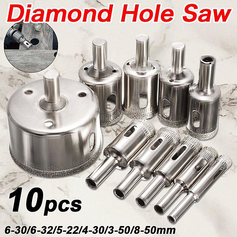 Doersupp 10 PCS / set 8-50mm Diamant Enduit Noyau Trou Scie Forets - Foret - Photo 6