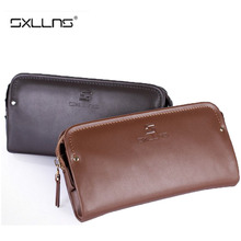 Man Wallet Sxllns Brand Men Wallet Genuine Leather Cowhide Men's Purses And Handbags Large Capacity Mens Wallet Free Shipping