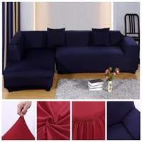 2+2 Seat Sofa Cover Slipcover Stretch Elastic Couch Furniture Protector Fit Set Pure color