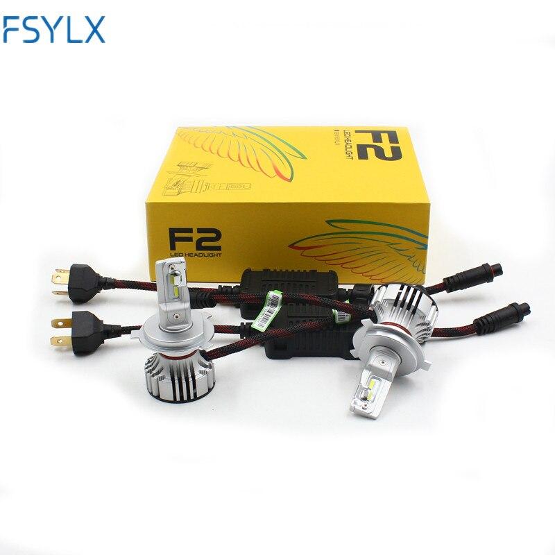 FSYLX 72 W 12000LM F2 H4 H7 H8 H11 h13 Voiture LED Phares Ampoule Antibrouillard F2 H7 H11 H8 9005 9006 phare de voiture LED Kit
