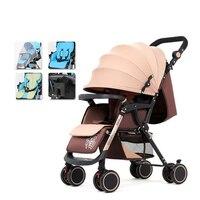 Детская коляска может сидеть полулежа легкий складной четыре колеса шок Новорожденные уход высокое пейзаж Лето коляска