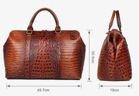 Высококачественная кожаная сумка с аллигаторовой текстурой для женщин, сумки Dufflel, багажная сумка, модная мужская сумка через плечо для пут