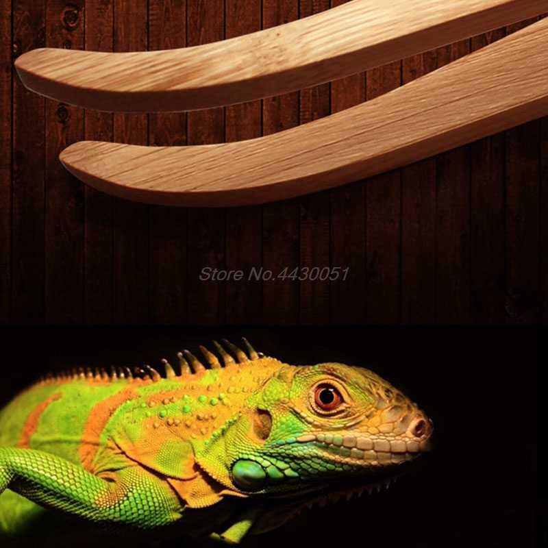 2018 Siku Reptil Terarium Makan Penjepit Pinset Bambu Ramah Lingkungan Alat Makan