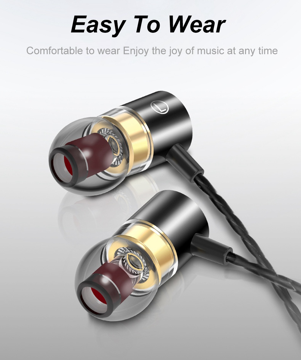 In-Ear Earphone Earbuds Metal Supper Bass Headphones Wired Earphones with Mic for Xiomi Phone Computer 3.5mm In Ear Headset      (1)