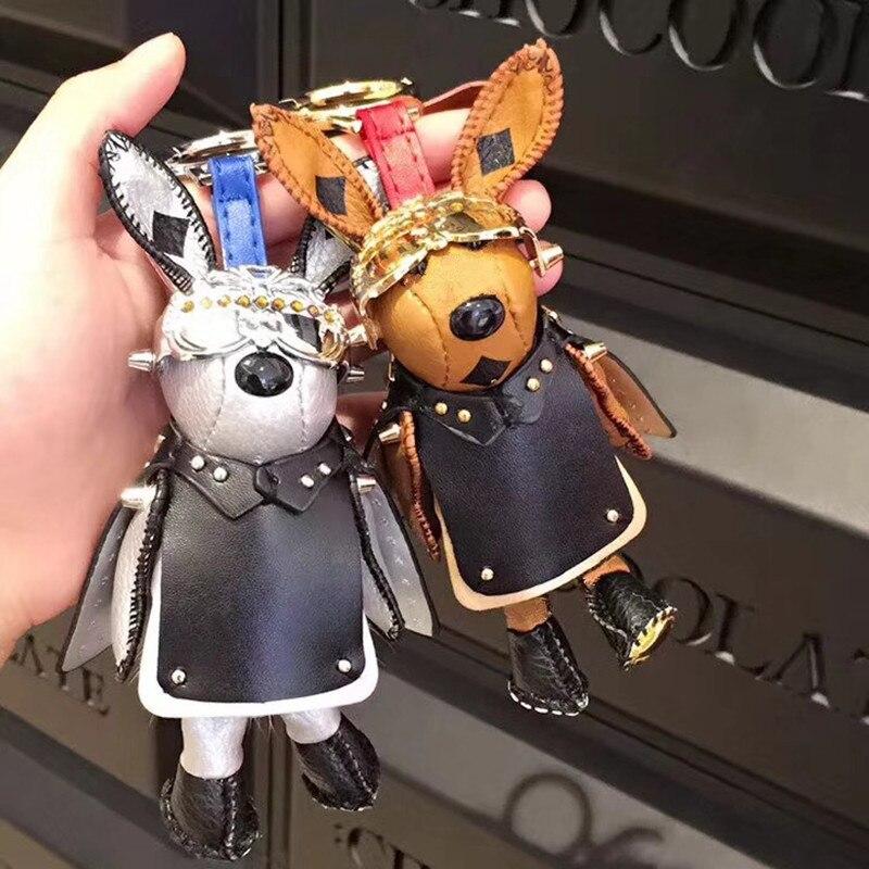 100% Wahr Taschen Anhänger Kühlen Capes Raum Kaninchen Metall Schnalle Leder Rock Kaninchen Tasche Ornamente Unisex Paket Zubehör Kostenloser Versand Exquisite (In) Verarbeitung