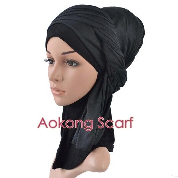 10 шт./партия, макси шарфы трикотажные хиджаб шарф для женщин, полиэстер, хлопок, Джерси, мусульманская длинная голова, шаль без рисунка, палантин 70X160 см