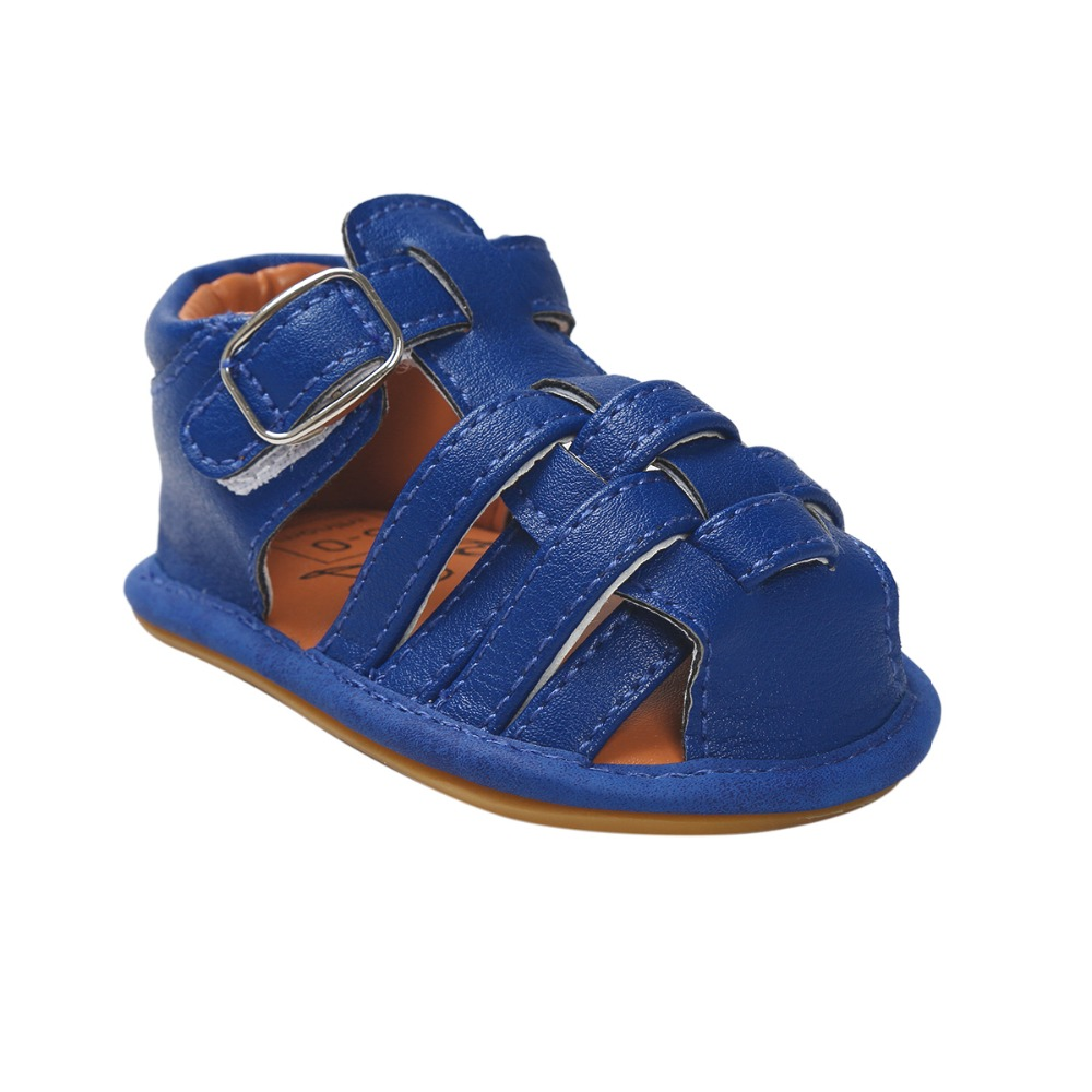 Blue New Summer PU Leather Flower design Newborn Baby Girl Boy Crib First Walkers Baby sandals many colors for choose