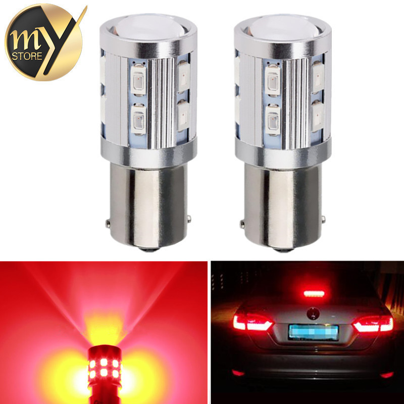 2pcs 1156 BA15S 12 SMD Samsung 5730 led High Power lamp p21w R5W Car LED bulbs rear brake Lights Source parking 12V Red
