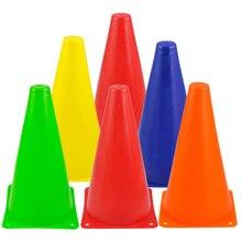 6 шт красочные пластиковые Слалом мини Конусы дорожные знаки Знаки