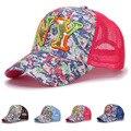 Crianças verão tampas de malha 3D bordado NY chapéu esporte ajustável crianças tampões do camionista malha chapéu para meninos e meninas