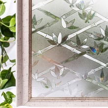 CottonColors Window Films Cover  No-Glue 3D Static Decorative Privacy Window Glass Sticker Home Decor Size 60 x 200cm