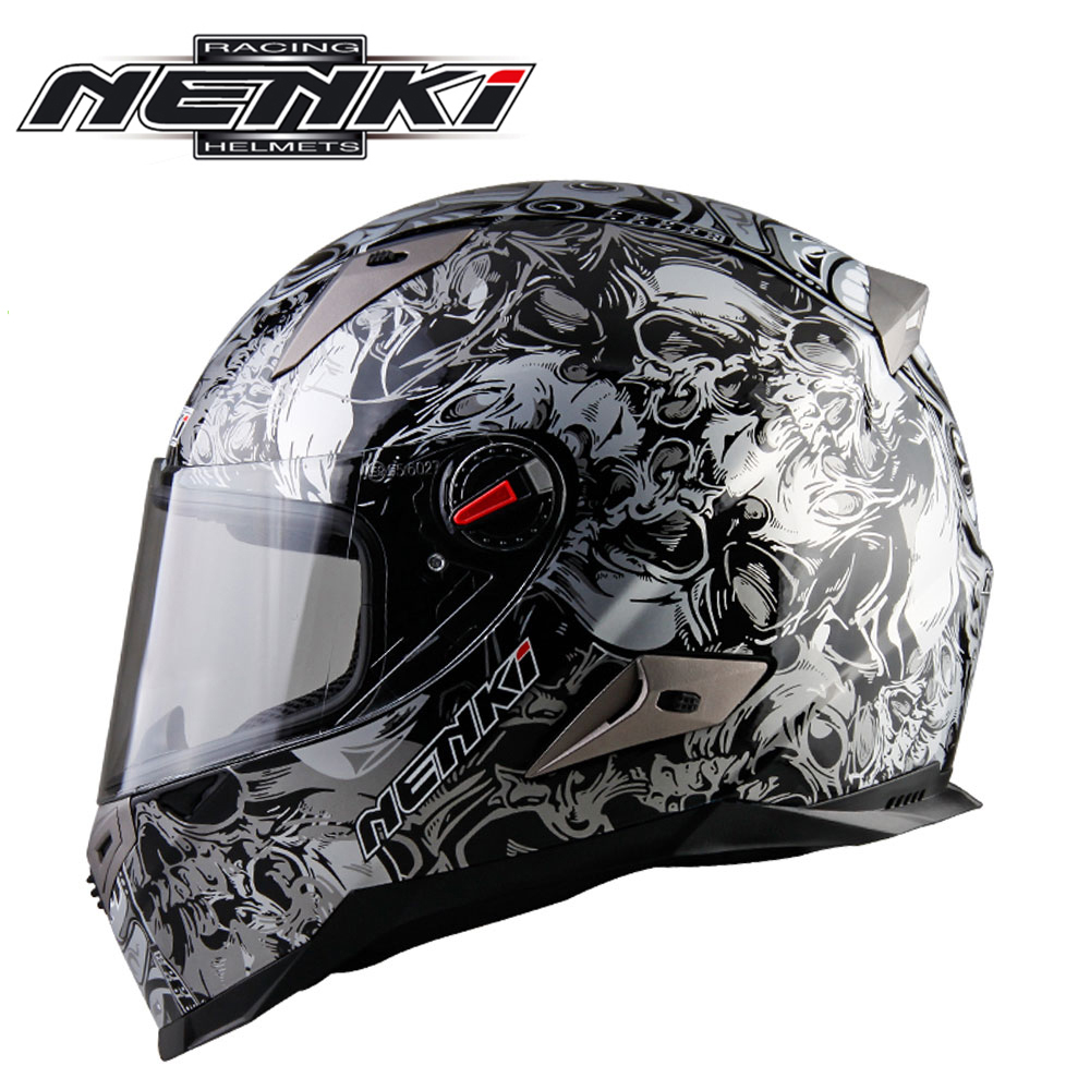 NENKI Motorcycle Helmets For Men And Women Motorbike Full Face Helmet Motocross Racing Helmet Capacete De Moto 13 Color nenki motorcycle helmets motocross racing helmet motorbike full face helmet capacete de moto for men and women 13 color