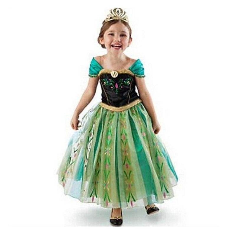 Платье для девочек; Маскарадный костюм Снежной Королевы; Платья принцессы Эльзы; Костюм Анны; Одежда для малышей; Детская одежда с юбкой-пач...