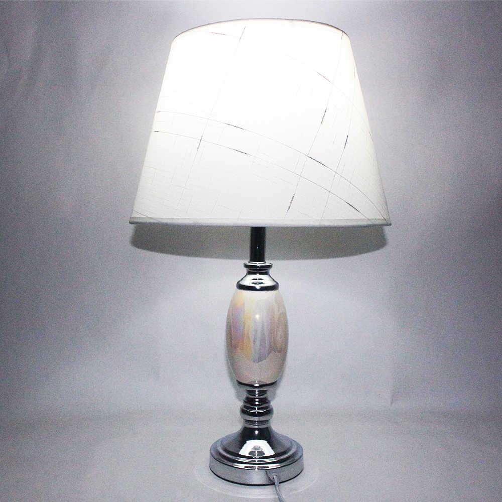 Современные расписные уникальные текстильные керамические Настольные светильники винтажные E27 светодиодный 220 В настольная лампа для учебы, кровати, гостиной, офиса, отеля, бара