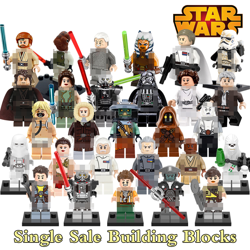 Building Blocks Han Solo Chrom Darth Vader clone troopers Obi-Wan DIY Star Wars Figures Models Kids DIY Educational Toys Bricks building blocks agent uma thurman peeta dc marvel super hero star wars action bricks dolls kids diy toys hobbies kl069 figures