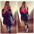 Best Selling Winter Explosion Models Ladies Fashion Tether Spell Color Lapel Long Section Warm Cotton Padded Women