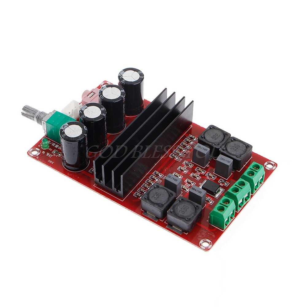 TPA3116D2 2x100 Вт 2 канальный цифровой усилитель аудио доска 12-24 V DIY модуль постоянного тока Питание 2 канала высокой Мощность и низкое тепловыделение