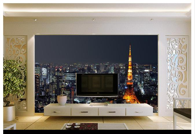 Customized 3d Wallpaper 3d Tv Wall Paper Murals Beautiful City At Night Wallpaper