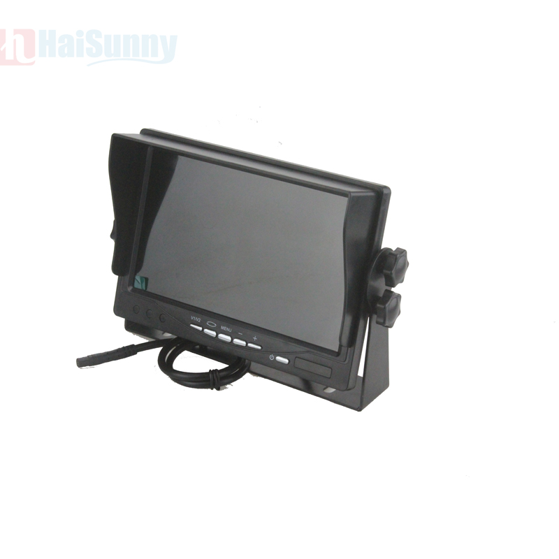 Sinairyu Car Truck Bus 7 Inch LCD Auto Parking Monitor With Bracket Aviation joint 2 Video Input + Rear View Camera