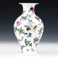 Jingdezhen Ceramic Vase Vintage Chinese Style Animal Vase Fine Smooth Surface Home Decoration Furnishing Articles White through