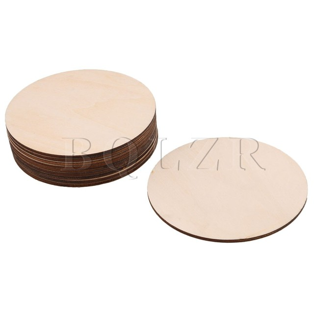 Bqlzr 100mm Diameter 3mm Thickness Unfinished Round Wood Cutouts