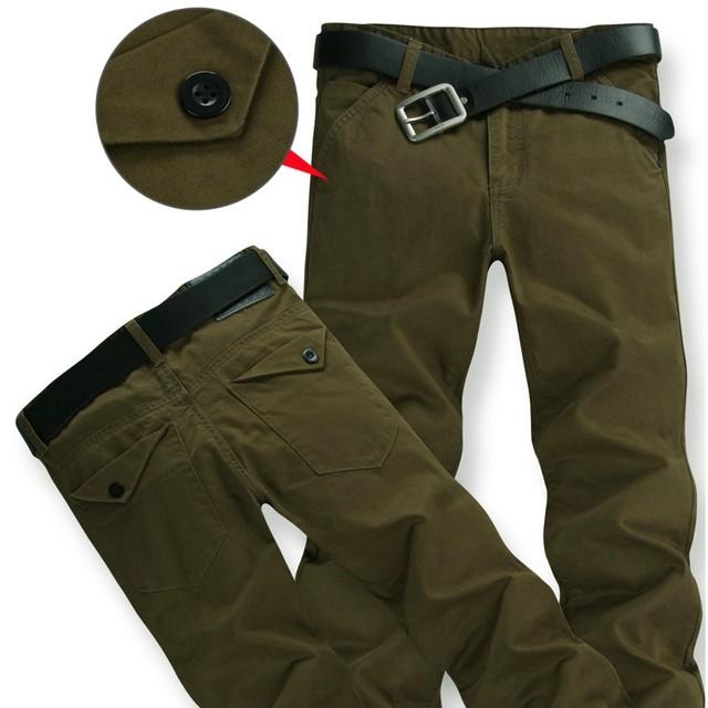 El envío libre 2016 hombres pantalones casuales suelta más la ropa de gran tamaño de los hombres de gran tamaño pantalones vaqueros delgados pantalones largos tamaño 28-54