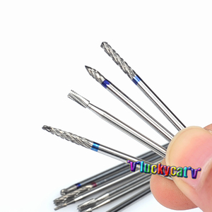 Image 5 - 20Pcs/ 2 BoxDental Burs Drills Nitrate Tungsten Steel Material 2.35mm & Dental Lab Titanium Nitrate Carbide Burs